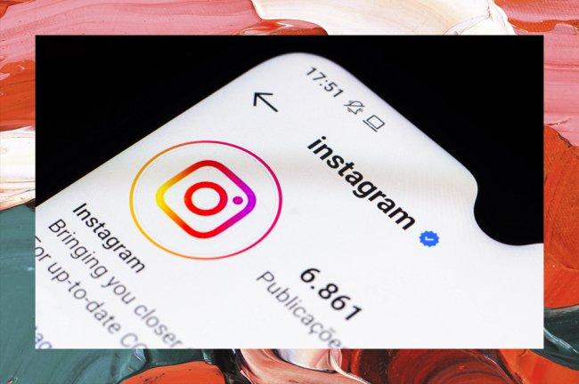 Imagem da tela de um celular. Está aberta a página oficial do Instagram dentro da plataforma Instagram.