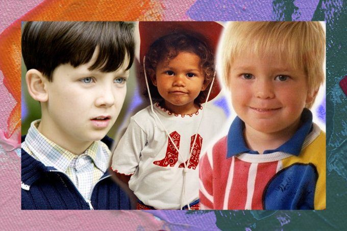 Desafio: você consegue identificar quem são essas crianças famosas?