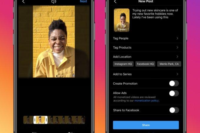 Instagram Video une conteúdos do feed e IGTV em nova aba; entenda